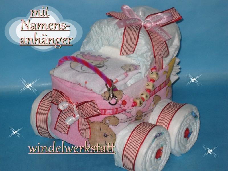 windelkinderwagen xl namensanh nger m dchen windelwerkstatt. Black Bedroom Furniture Sets. Home Design Ideas