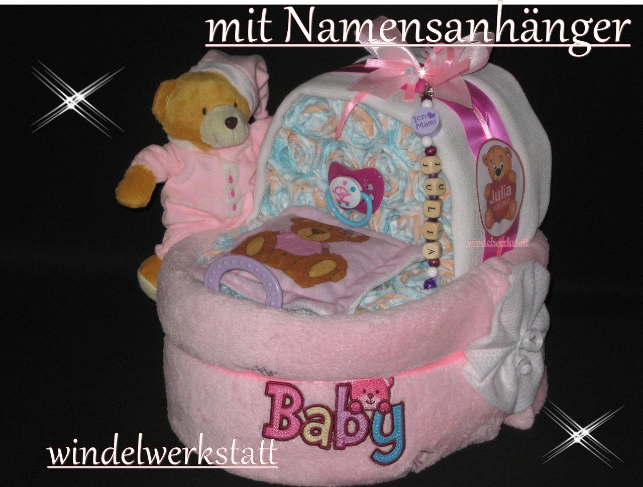 windelk rbchen namensanh nger windeltorte baby geburt. Black Bedroom Furniture Sets. Home Design Ideas