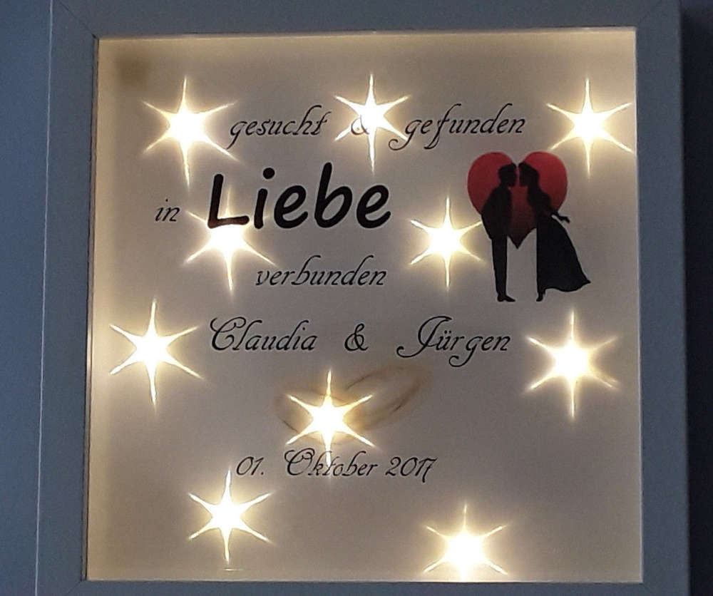 Bilderrahmen Beleuchtet Led Hochzeit Namedatum Geschenk