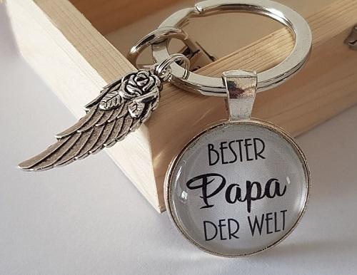 Schlüsselanhänger Bester Papa Kennzeichen Geburtstag Geschenk Vater Auto Papi